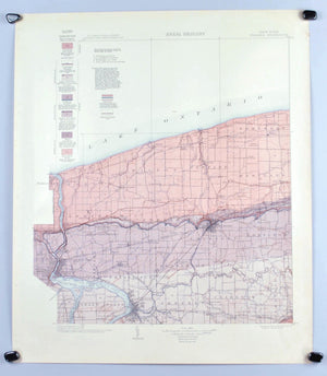 1913 U.S. Geological Survey Areal Geology Map of Niagara County, New York  (Niagara Falls) - EM Kindle