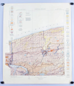 1913 U.S. Geological Survey Surficial Geology Map of Niagara County, New York (Niagara Falls) - EM Kindle