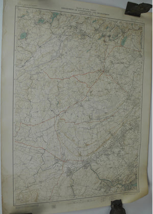 Somerset New Jersey Plainfield Vintage Survey Map 1928
