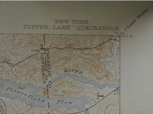 Tupper Lake New York Antique Topographic Map 1915 B