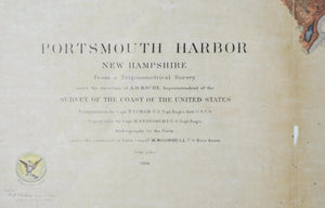 1866 U. S. Coast Survey Map of Portsmouth Harbor New Hampshire