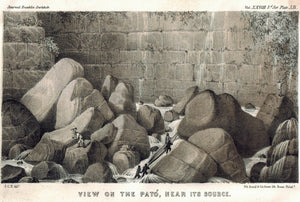 View On The Pato Near Its Source Columbia 1854 Original Antique Litho Print