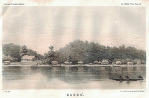 Baudó (Baudo) View on Atrato River Columbia 1854 Antique Litho Print