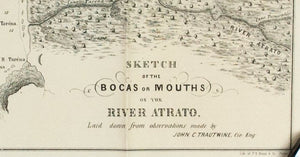 1854 Bocas or Mouths of the River Atrato by John C Trautwine