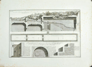 Francesco Piranesi Ancient Pool System 18th Century Engraving Architecture