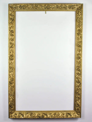Antique Carved Wood Gold Gilt European Style Frame with Baroque Accents 28x44