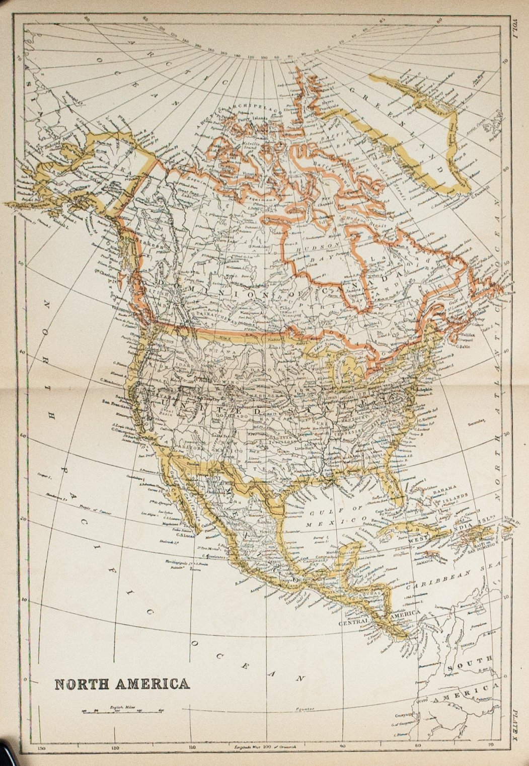 1887 North America - Britannica