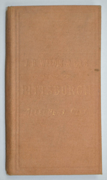 Pittsburgh & Allegheny City Rand McNally Weldin Antique Pocket Map 1882