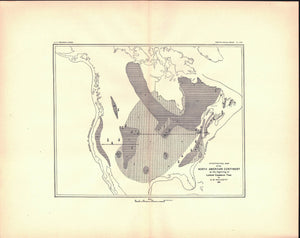 1891 North American Continent beginning of Lower Cambrian Time - J W Powell