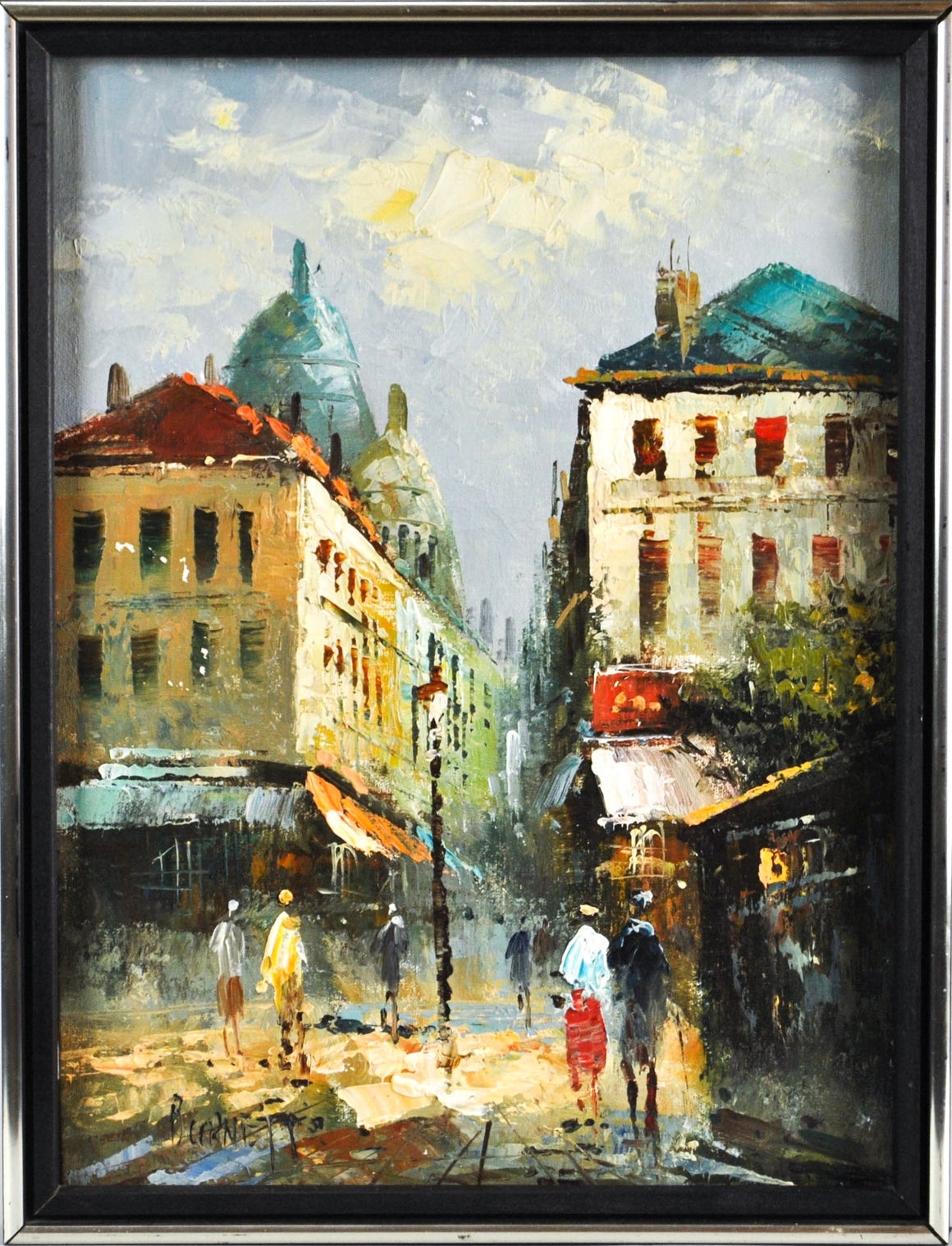 Caroline Burnett - Paris Street Scene - Oil Painting