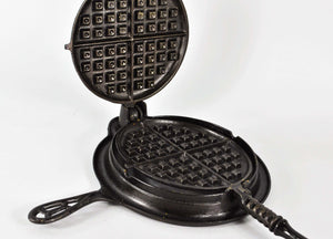 1901 Griswold New American No.8 Cast Iron Waffle Maker from Erie PA