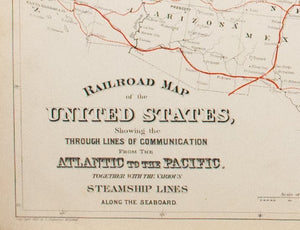 1881 Railroad Map of the United States - S Mitchell Jr