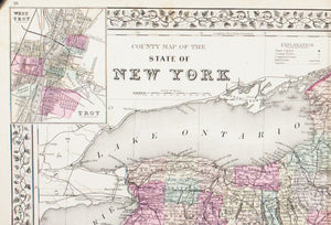 1881 County Map of the State of New York - S Mitchell Jr