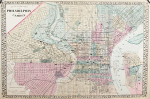 1881 Plans of the City of Philadelphia and Camden - S Mitchell Jr