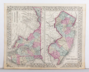 1881 County Map of Virginia and West Virginia - S Mitchell Jr