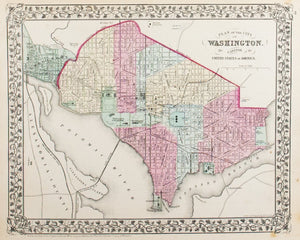 1881 Plan if the City of Washington DC - S Mitchell Jr