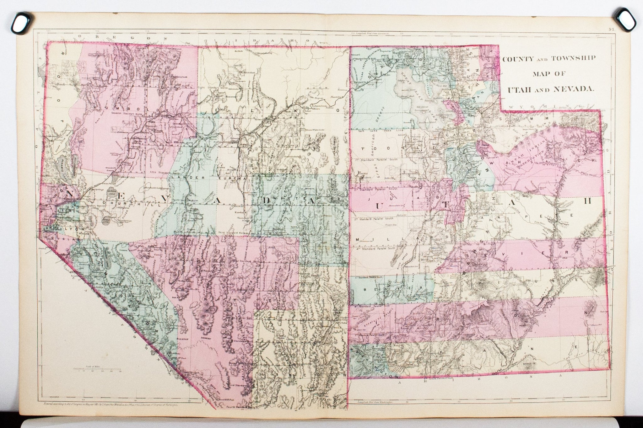 1881 County and Township Map of Utah and Nevada - S Mitc Jr on map of summit, utah state counties, map of emery, map of millard, map of education, map of kane, map of tooele, map of north ga, map of utilities, blank map utah counties, map idaho counties, map of wasatch front, map of washington, map of alaska boroughs, map of pennsylvania towns, map of cities, map of states, map of salt lake, map of transportation, map of wayne,