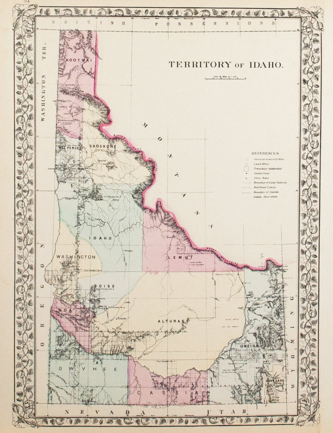 1881 Territory of Idaho - S Mitchell Jr
