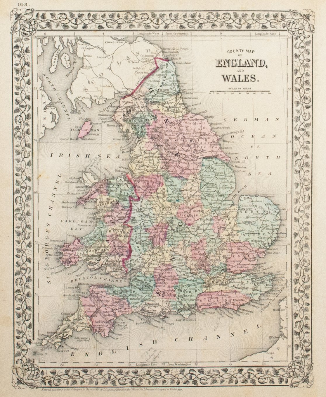 1881 County Map of England and Wales - S Mitchell Jr