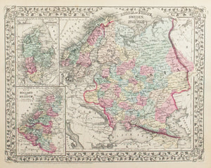 1881 Russia in Europe, Sweden and Norway - S Mitchell Jr