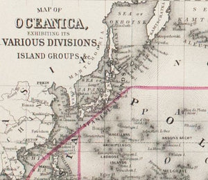 1881 Map of Oceanica - S Mitchell Jr
