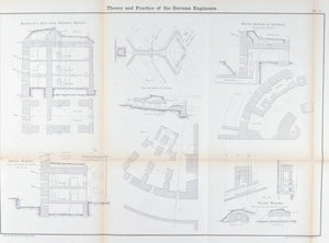 Defensive Barrack System German Military 1860 Fortification Plan Print