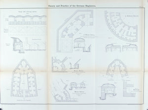 Defensive Mortar System German Military Fortification Plan 1860 Print