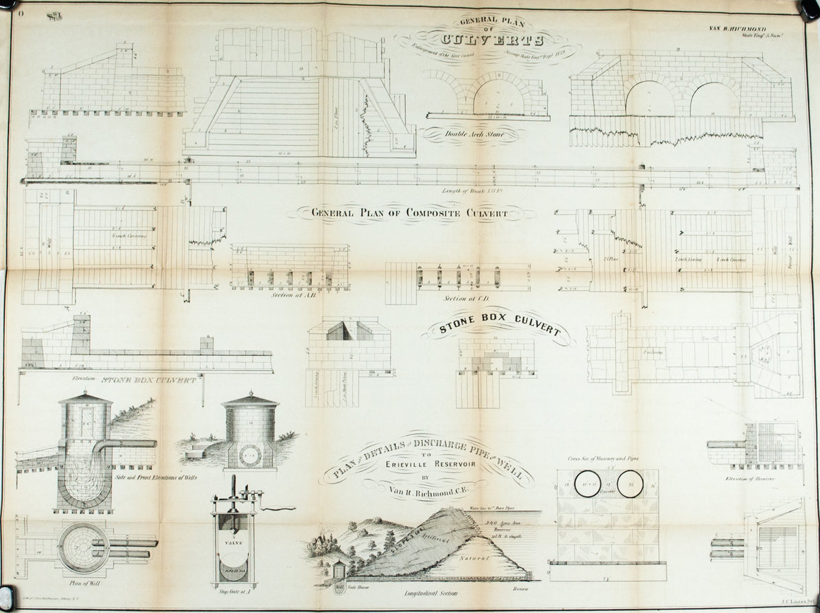 1860 Plan 0 - General Plan of Culverts - Van R Richmond