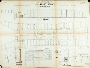 1860 Plan A - General Plans for Timber Locks Chemung Canal