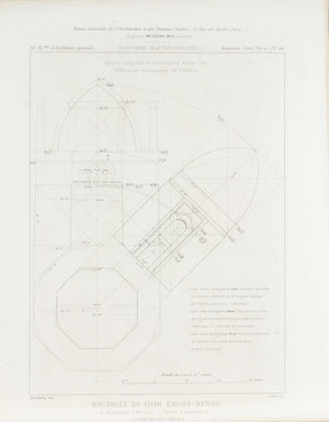 Architectural Plan Drawings Dome Design 1883 Architecture Print