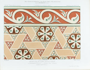 Persian Architectural Fresco Design 1883 Architecture Print