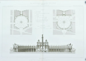 Architectural Plan for Victor Emmanuel II Monument 1883 Architecture Print