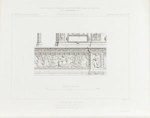 Insides Wall Frescos of Gaillon Castle 1883 Architecture Print