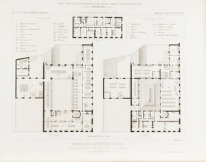 Building Plans for Saint-Michel Boulevard Publishing Co. 1883 Architecture Print