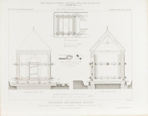 Building Transportations Plans 1883 Architecture Print