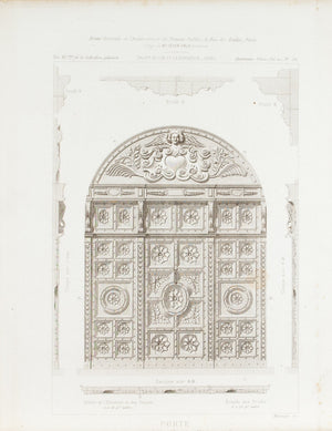 Ornate Door Carvings of the Hotel Druilhet d'Yversen 1883 Architecture Print