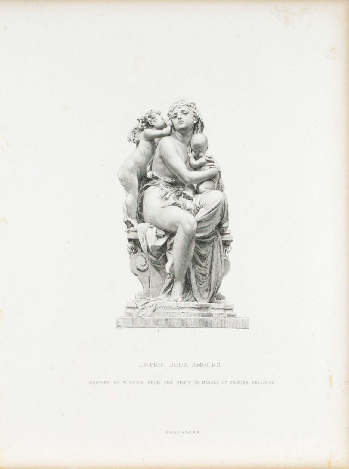 Between Two Loves Albert Ernest Carrier Belleuse c. 1880 Engraved Art Print