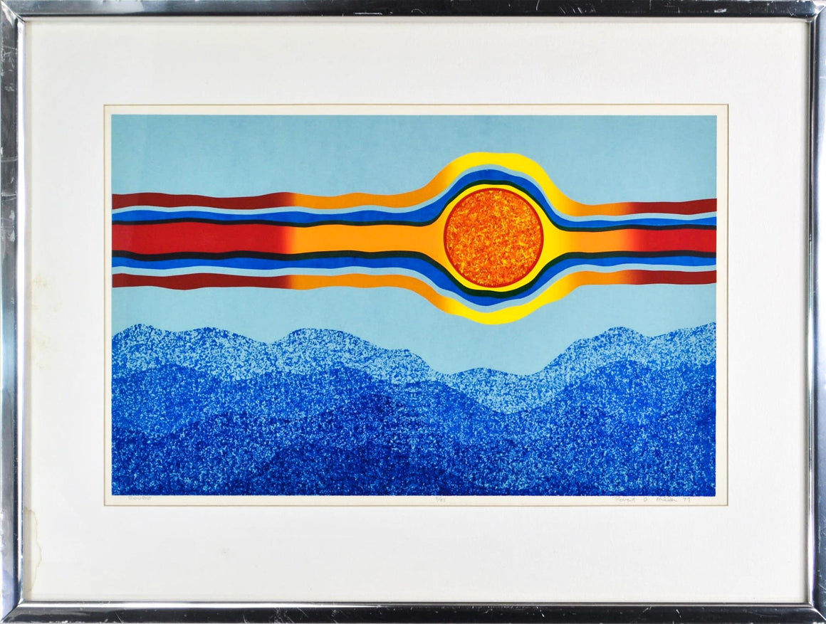Vintage 1977 Source by Robert Miller Abstract Litho Retro Design