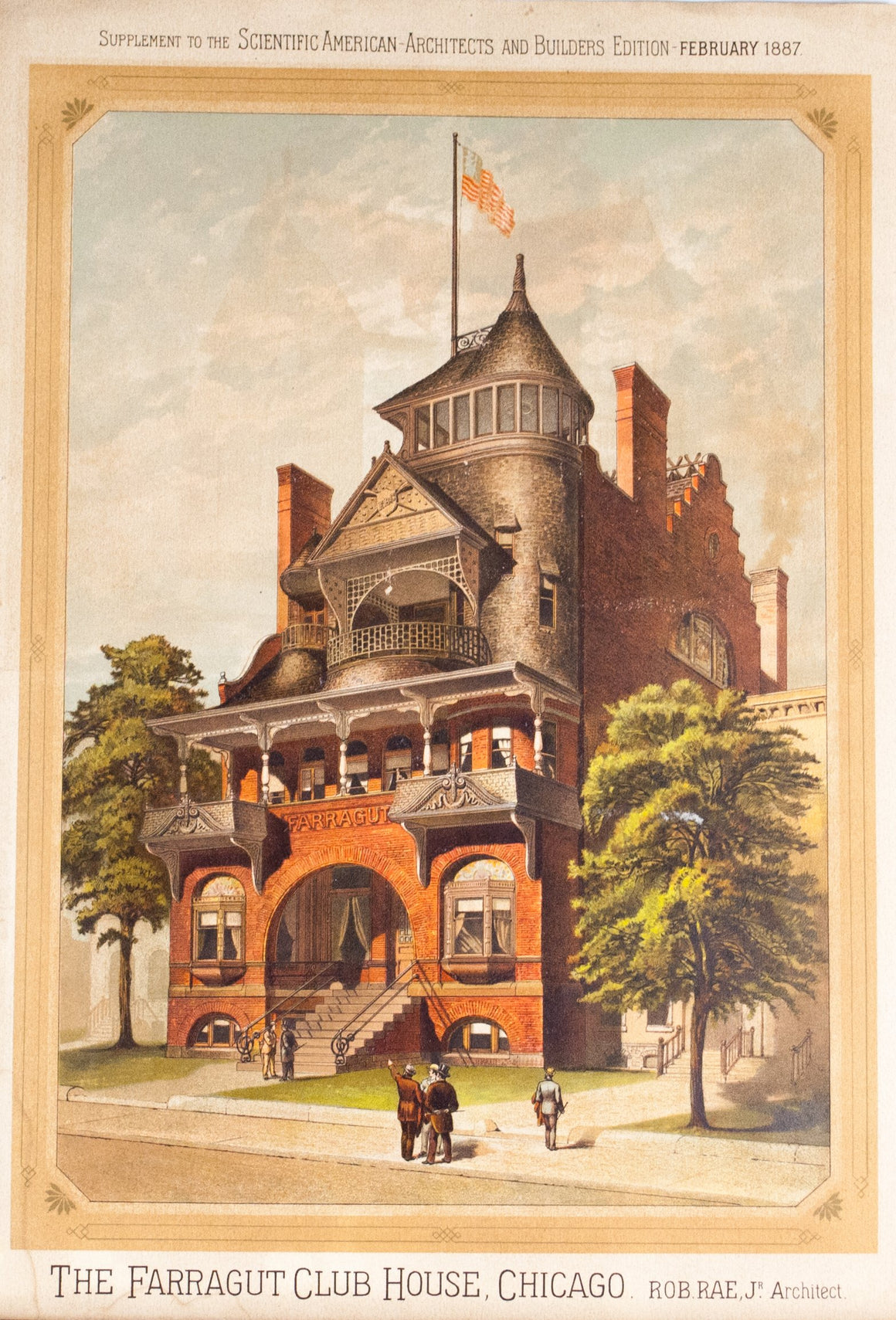 1887 The Farragut Club House Chicago - Scientific American
