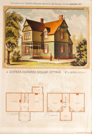 1887 Cottage by William H Beers - Scientific American