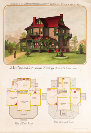 1887 Cottage by Architect George W. Cady - Scientific American