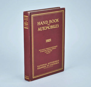 Hand Book of Automobiles 1921 National Automobile Chamber of Commerce