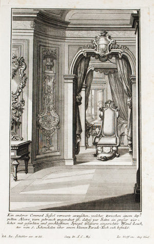 1735 Plate 2 - Chair in Double Alcove - Schublers