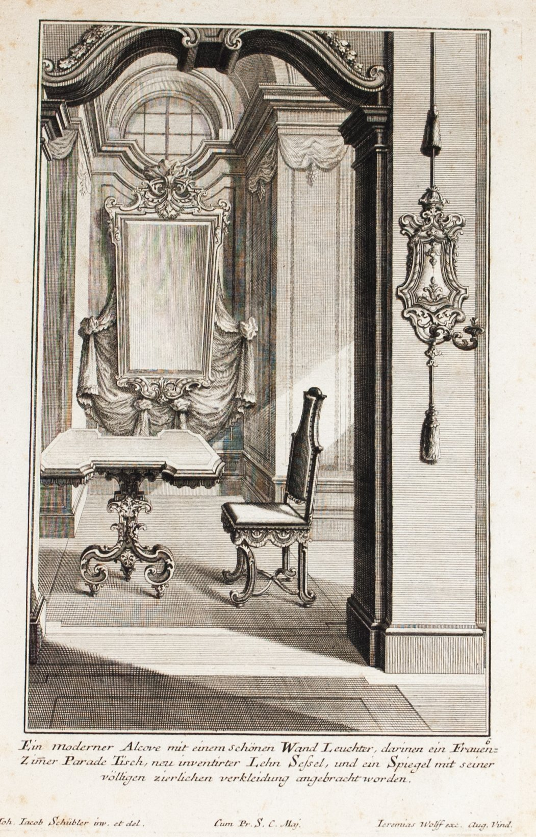 1735 Plate 6 - Woman's Parade Table - Schublers