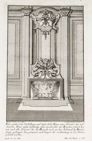 1735 Plate 1 - Outward Fireplace - Schublers
