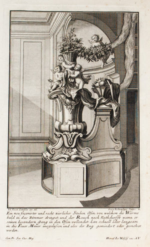 1735 Plate 2 - Cupid Fireplace - Schublers