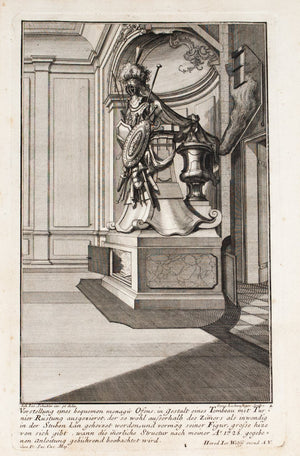 1735 Plate 4 - Knight Armor Fireplace - Schublers