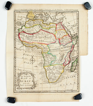 1774 An Accurate Map of Africa from the Best Authorities - J Gibson