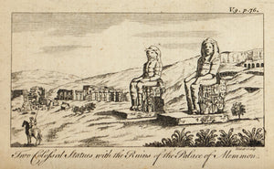 1774 Statues at the Palace of Memnon - Hulett