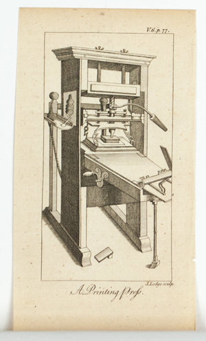 1774 A Printing Press - J Lodge